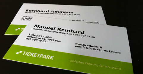 Businesscards Ticketpark GmbH